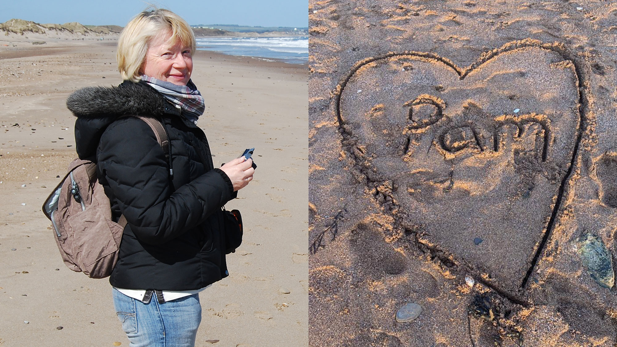Photo of Pam, a National Trust member who dedicated her life to keeping our beaches clean