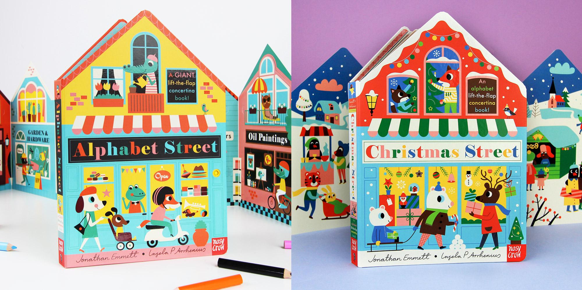 Alphabet Street and Christmas Street by Ingela P Arrhenius and Jonathan Emmett